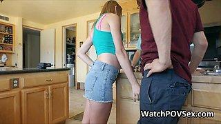 Big tit teen cheats with bfs friend on video