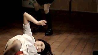 Misha Highstead playing a dancer at a strip club, spinning