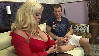 Busty Milf Sucking Cock @ Pegging - A Strap On Love Story #09