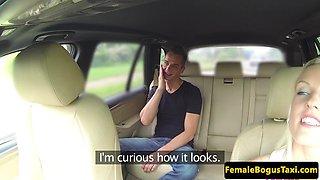 Eurobabe taxi driver seducing passengers cock