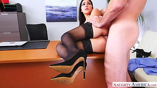 valentina nappi gets spanked and backdoored in the office