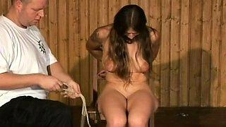 Hot older gets spanked in rough bdsm sex spectacle