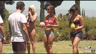 Annie Cruz joins a bunch of friends for an outdoor orgy
