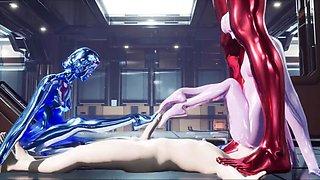 Unreal engine animation sentient nanobot slime girl