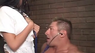 Incredible pornstar Randy Wright in amazing blowjob, brunette adult scene