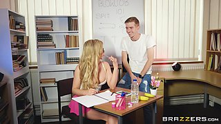 busty teen fucked during detention