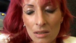 redhair mature regina latex solo