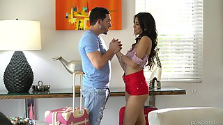 Amazing babe Sophia Leone gets her pussy plowed by the pool