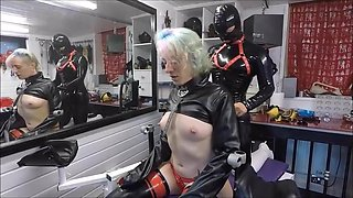 Mistress restrains the submissive