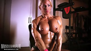 Jj topless hard muscle workout