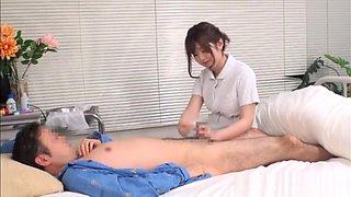 Naughty Asian nurse Kaho enjoys patient in position 69