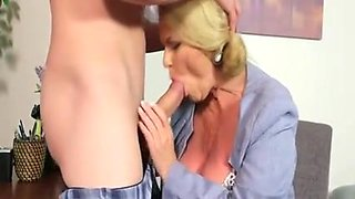 Fat Granny Secretary Enjoys Fuck And Creampie