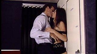 Pilot seduces his horny flight attendant