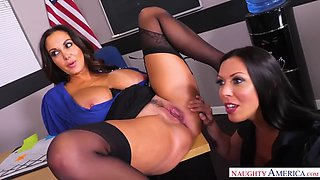 thick teachers ava addams and rachel starr fuck student in college room