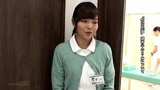 Lustful Japanese nurses satisfying their hunger for cock