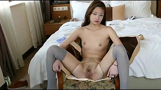 Cute hong kong model spreads legs and more