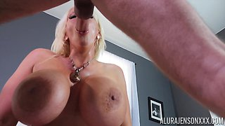 Milf with massive tits and huge nipples Alura Jenson gets fucked