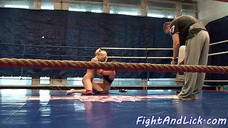 Amateur dykes wrestling with passion