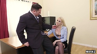 Incredibly hot blonde Roxy Nicole gets her pink pussy drilled