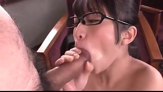 Japanese office girl blowjob service