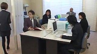 Best Japanese chick Hina Wakara in Fabulous Secretary, Threesomes JAV clip
