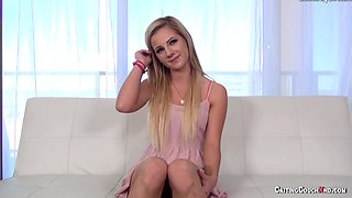 Hot Blonde Fucked on Casting