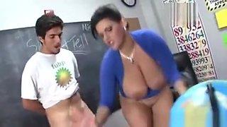 Fetish Teacher Sucks Cock In Class
