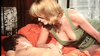 Blonde cougar getting fucked by her son