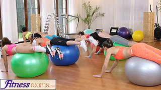 fitness rooms gym milf and students have wet lesbian