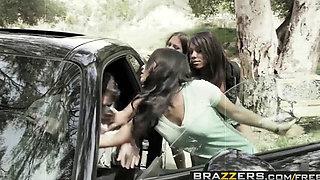 Brazzers   Pornstars Like it Big   Asa Akira Leilani Leeane Lizz Tayler James Deen   Death Proof A XXX Parody