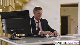 Babes - Office Obsession - Stress Relief starring Ella Hughes and Marc Rose clip