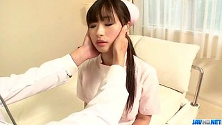 Shizuku Asian nurse receives a strong pounding