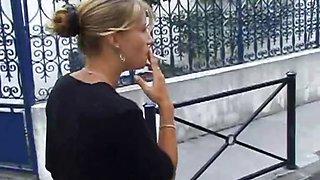 shy blonde teen first porno casting