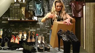 German girl heels and latex