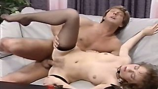 Working her pussy hard to ride that massive cock of her friend