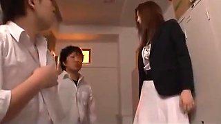 Students forced creampie teacher Ai Haneda