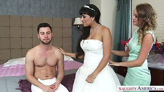 Sexy bridesmaid Alexis Adams takes part in first wedding night