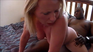 BBC mounts your trophy blonde wifes tight white butt!