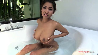Gorgeous G-sized Boobs on Hot Thai Girl