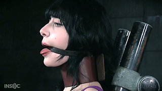 Submissive hottie Charlotte Sartre is restrained and masturbated hard