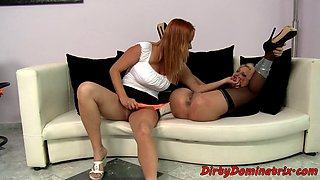 Domina maid tiesup and dildoes MILF employer