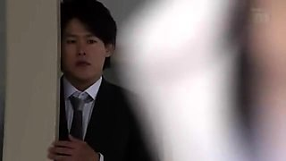 Elegant Japanese secretary gets pounded hard in the office