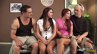 Hardcore Foursome With The Hot Sisters Whitney And Britney Stevens