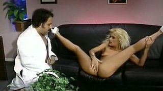 Fine and lascivious blonde white girl having sex with a doctor
