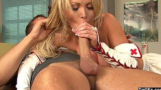 Busty Nurse Nikki Benz Gives a Full Physical