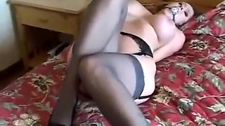Brunette bondage sex