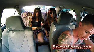 Brutal latex anal fisting Excited young tourists Felicity Feline and Jade Jantzen are