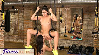 Fitness Rooms Tiny teen has tight little pussy fucked