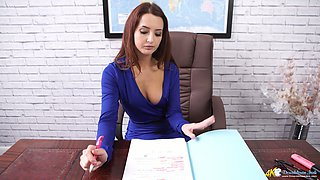 The most captivating boobies of sexy young secretary Layla