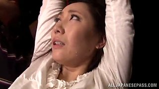 mika nanase ends up with a facial after being fingered and fucked